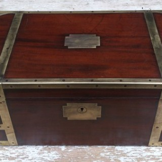 Antique Campaign Writing Box (1780 to 1800	England)
