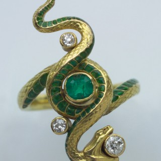 Art Nouveau Snake Ring