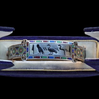 Early Egyptian Revival Hinged Bangle