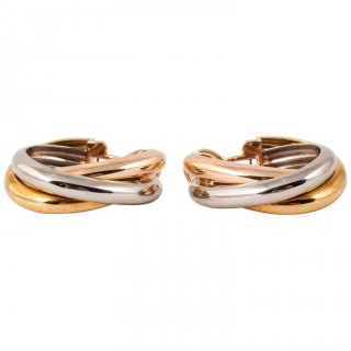 Cartier Three Colour Gold Hoop Earrings