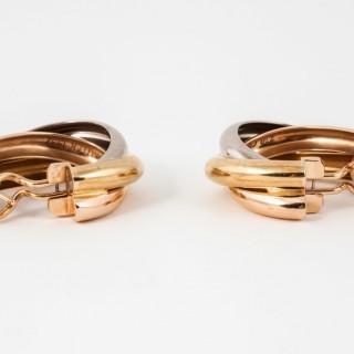 Cartier Three Colour Gold Hoop Earrings