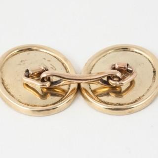 Enamel Gold Cufflinks
