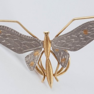 Fine Two Color Gold butterfly