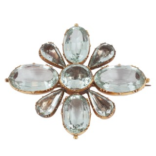Rare Aquamarine Regency brooch