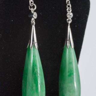Natural Jade drop earrings