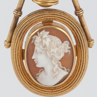 Victorian Cameo drop earrings