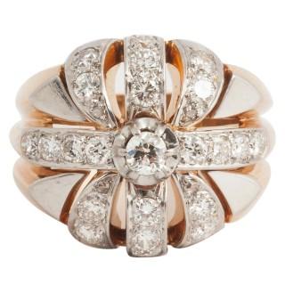 Smart 1940's diamond dress Ring