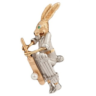 Cricket Player Hare Pin