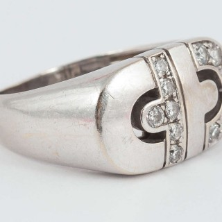 Bulgari Modern Diamond Gold Cocktail Ring
