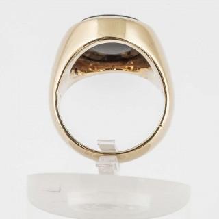 Sardonyx Gold Armorial Signet Ring