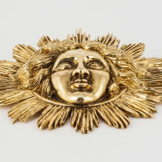 Gold Apollo Sun King Pendant