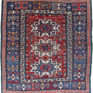 Antique Lesghi rug, Caucasian
