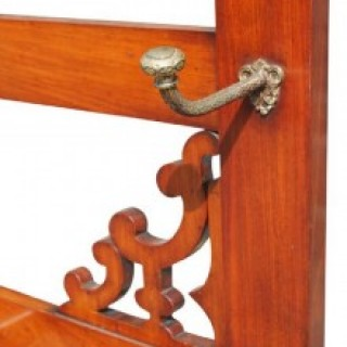 Late Victorian Mahogany Brass Hall Stand
