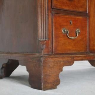George III Teak Kneehole Desk