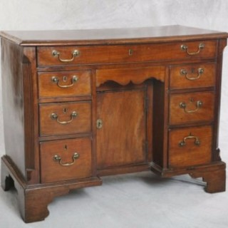 George III Teak Kneehole Desk