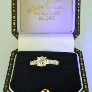 0.77 carat Natural Diamond Solitaire Ring