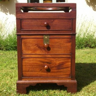Antique Bedroom Washstand Made of Cuban Mahogany (c. 1770England)Antique Bedroom Washstand Made of Cuban Mahogany (c. 1770England)