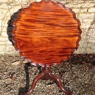 Antique Cuban Mahogany Wine Table / Lamp Table / Tripod Table
