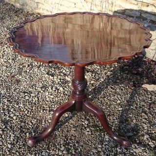 Antique Cuban Mahogany Wine Table / Lamp Table / Tripod Table