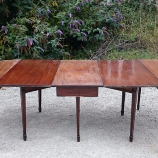 Antique D End Dining Table FInest Cuban Mahogany
