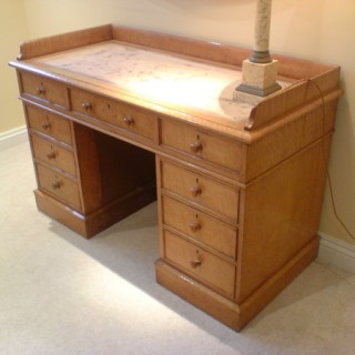 Antique Desk / Dressing Table, 'Bird's Eye' Maple Wood