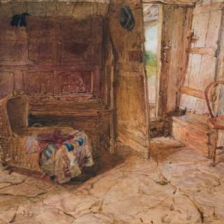 FREDERIC JAMES SHIELDS ARWS (1833-1911) COTTAGE INTERIOR