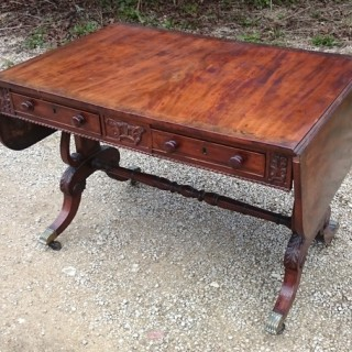 Antique Early Nineteenth Century Regency Sofa Table