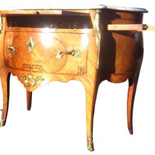 Antique French Bombe Commode Chest of Drawers