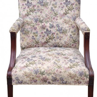 Antique Gainsborough LIbrary Chair