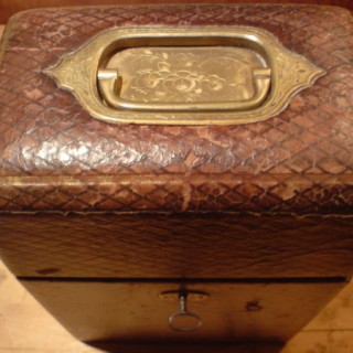 Antique Leather Tantalus