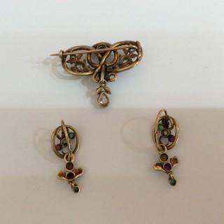 Victorian gem set snake suite