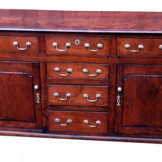 Antique Georgian Oak Dresser Base
