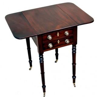 Antique Regency Mahogany Baby Pembroke Table