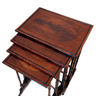 Antique Mahogany Quartetto Nest Of Tables