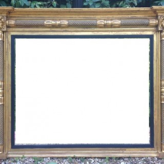 Antique Overmantle Mirror