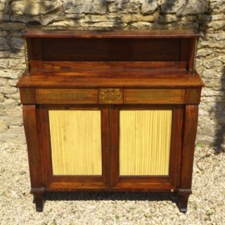 Antique Rosewood Chiffonier with brass inlay