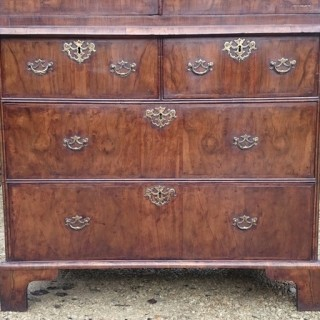 Antique Walnut Linen Press
