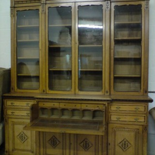 Asthetic Movement Secretaire Bookcase