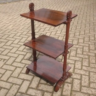 Beautiful Delicate Little Regency Rosewood Whatnot