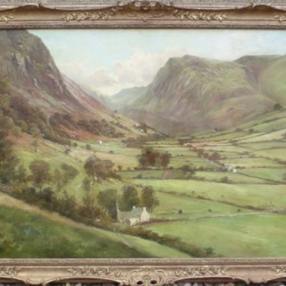 Breathtaking Welsh Landscape Scene Painted by French Anglophile Georges Pienne