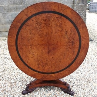 Burr Oak Antique Breakfast Table After George Bullock