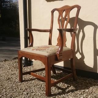 Early 18th Century Walnut Armchair