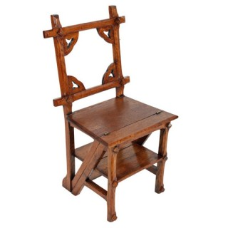 Victorian Metamorphic Library Chair