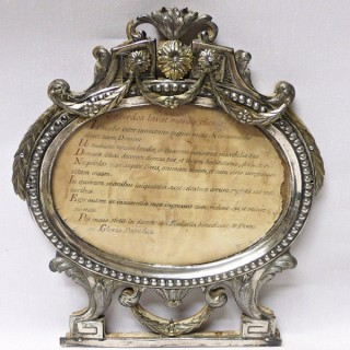 Pair of Antique Italian Silver Frames