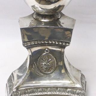Antique Belgian Silver Candlestick