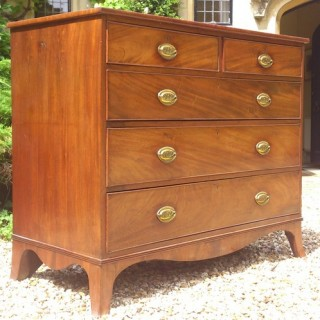 Early Nineteenth Century Mahogany Antique Chest of Drawers