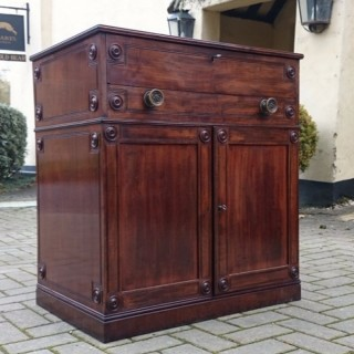 Fine And Rare Universal Cabinet In Cuban Mahogany