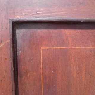 George III Period Mahogany Corner Cupboard