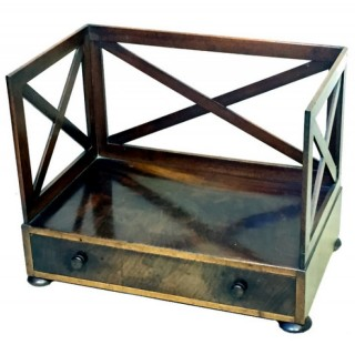 Antique Regency Mahogany Book Carrier