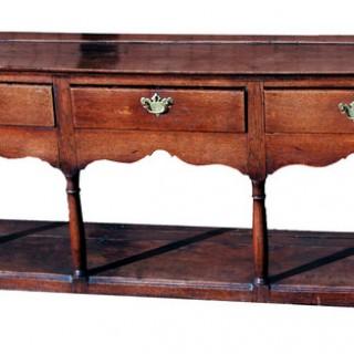 Antique Georgian Oak Potboard Dresser Base
